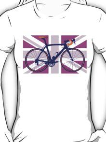 Bike Flag United Kingdom (Pink) (Big - Highlight) T-Shirt