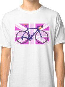 Bike Flag United Kingdom (Pink) (Big - Highlight) Classic T-Shirt
