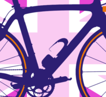 Bike Flag United Kingdom (Pink) (Big - Highlight) Sticker