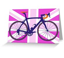 Bike Flag United Kingdom (Pink) (Big - Highlight) Greeting Card