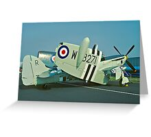 Fairey Firefly AS.5 WB271/R folded Greeting Card