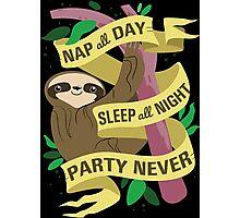 Sloth Philosophy Photographic Print