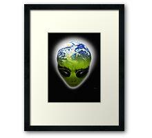 alien planet Framed Print