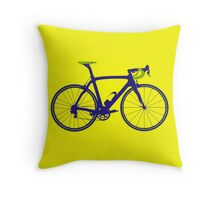 Bike Pop Art (Purple & Green) Throw Pillow