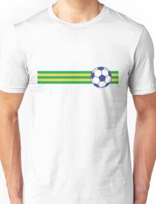 Football Stripes Brazil Unisex T-Shirt