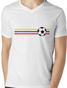 Football Stripes Ecuador Mens V-Neck T-Shirt