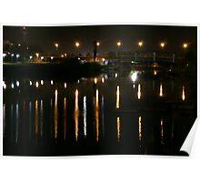 Yarkon river Tel Aviv Israel at night Poster