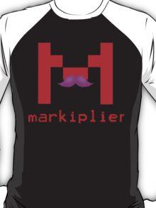 Markiplier Logo With Pink Mustache! T-Shirt