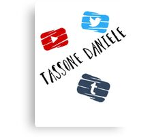 Tassone Daniele Social Media Canvas Print