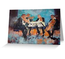 String Quartet - Painting Of Classical Musicians Greeting Card
