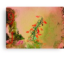Numbers, letters and flower Canvas Print