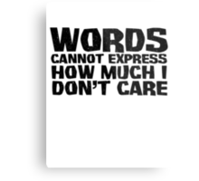 Words cannot express how much I don't care Metal Print