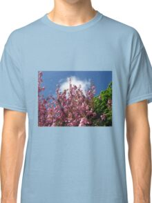 Blue Sky and Pink Blossoms Classic T-Shirt