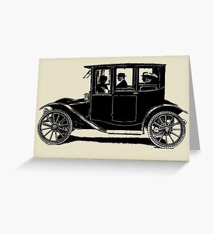 ELECTRIC TOWN CAR Greeting Card