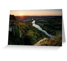 Sunset over the Dordogne Greeting Card