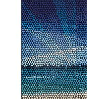 Mosaic abstract sea or ocean shore  Photographic Print