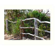 Wooden Fence. Overland Corner .S.A Art Print
