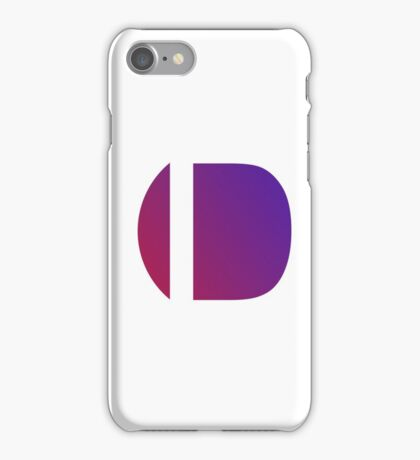 Blue Letter D iPhone Case/Skin
