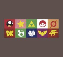 N64 Smash Bros Emblems T-Shirt