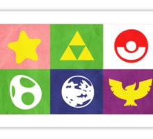 N64 Smash Bros Emblems Sticker
