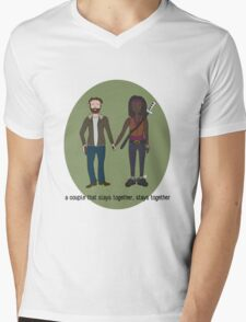A Couple That Slays Together (Richonne) Mens V-Neck T-Shirt