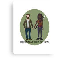 A Couple That Slays Together (Richonne) Canvas Print