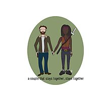 A Couple That Slays Together (Richonne) Photographic Print
