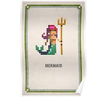Pixel RPG - Mermaid Poster