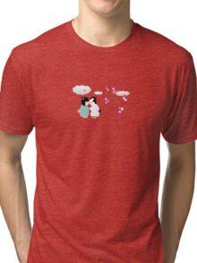 kiss kiss Tri-blend T-Shirt