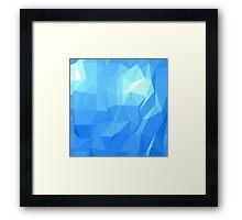 Polygonal Blue Framed Print