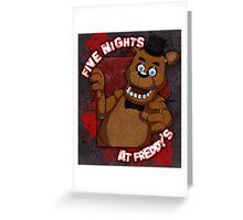 Freddy Fazbear Greeting Card
