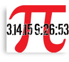 Happy Pi Day 2015 'Pi Logo and 3.14.15 9:26:53' Collector's Edition T-Shirt and Gifts Canvas Print
