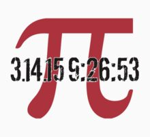 Happy Pi Day 2015 'Pi Logo and 3.14.15 9:26:53' Collector's Edition T-Shirt and Gifts by Albany Retro