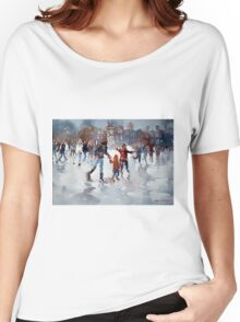Ice Skating At Hampton Court Palace London Women's Relaxed Fit T-Shirt