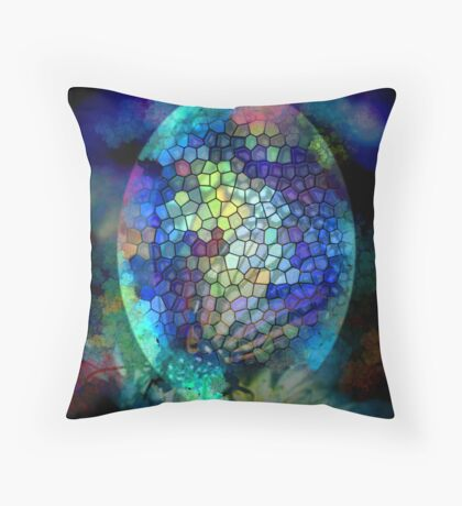 Coloured Egg Throw Pillow