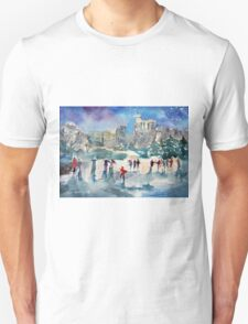 Ice Skating At Windsor Castle London Unisex T-Shirt