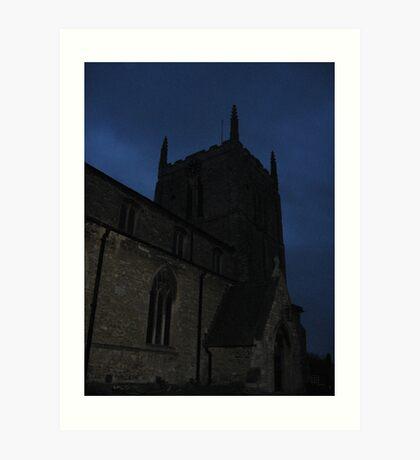 The Spooky Church Art Print