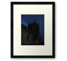 The Spooky Church Framed Print