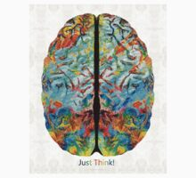Colorful Brain Art - Just Think - By Sharon Cummings Kids Clothes