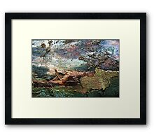 Caught in a Storm Framed Print