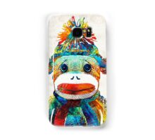 Sock Monkey Art - Your New Best Friend - By Sharon Cummings Samsung Galaxy Case/Skin