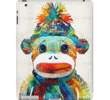Sock Monkey Art - Your New Best Friend - By Sharon Cummings iPad Case/Skin