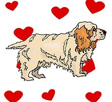 Clumber Spaniel Love by kwg2200