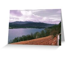 View over Loch Tummel Greeting Card