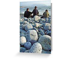 Beach pebbles, Miraflores Greeting Card