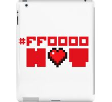 Red Hot Love for Geeks iPad Case/Skin
