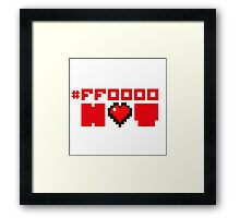 Red Hot Love for Geeks Framed Print
