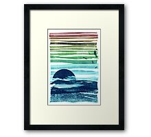 sea landscape Framed Print