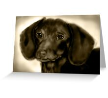 Dachsund Greeting Card