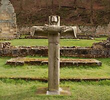 Mount Grace Priory. Virgin on the Cross. by richieh755